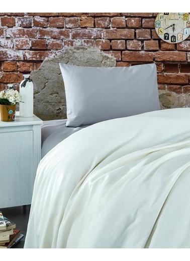 Komfort Home Tek Kişilik Ranforce %100 Pamuk Pike / Krem Krem